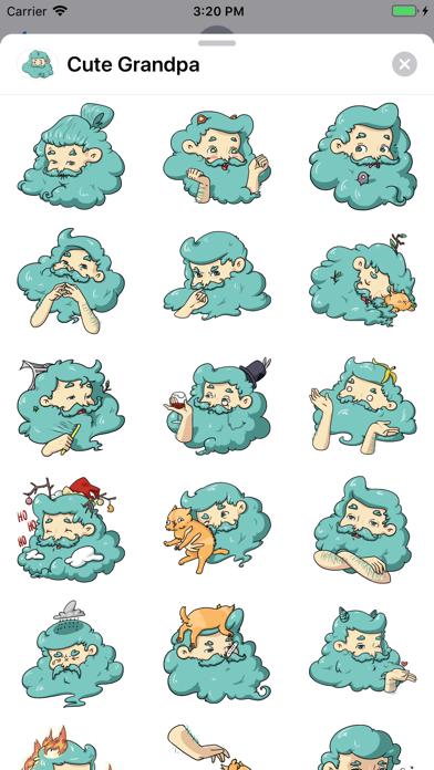Screenshot for Cute Grandpa Sticker Pack in United States App Store