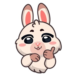 Fluffy Bunny Sticker Pack