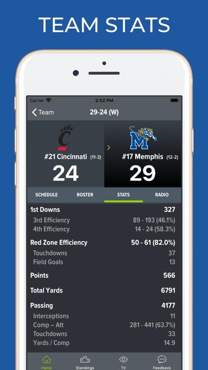 Memphis Football Schedules screenshot-4