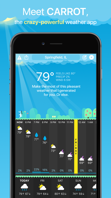 CARROT Weather Screenshots