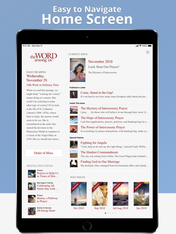 The Word Among Us Mass Edition-ipad-0