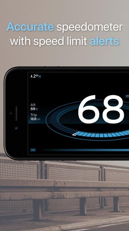 Speedometer One Speed Tracker+ screenshot-0