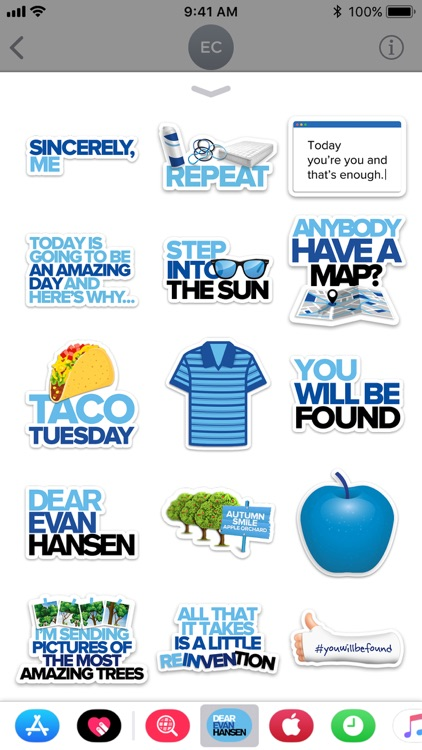 Dear Evan Hansen Stickers