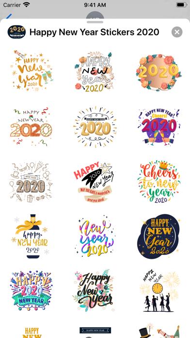 Happy New Year Stickers 2020 screenshot 1