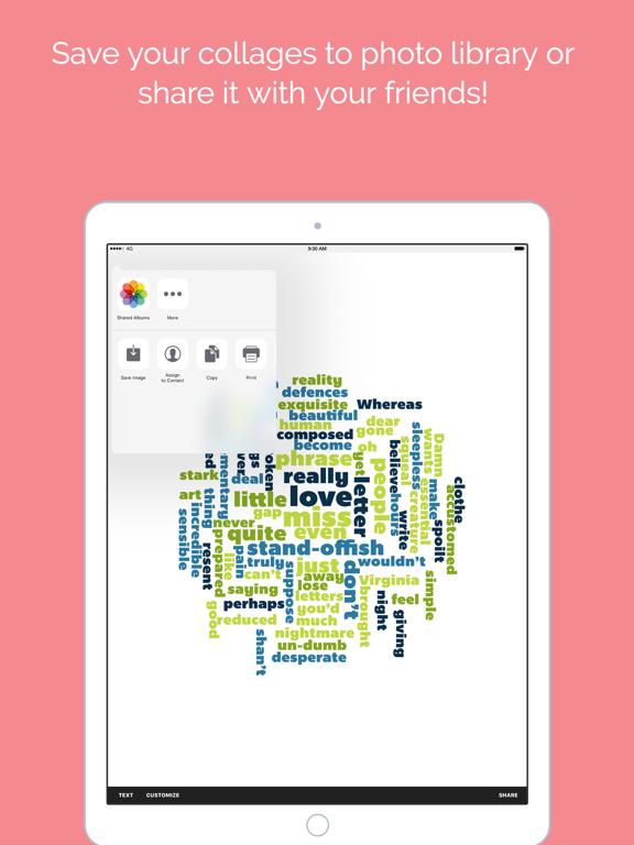 Word Collage Screenshot 4
