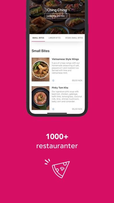 foodora - mat levert hjem iPhone app afbeelding 2