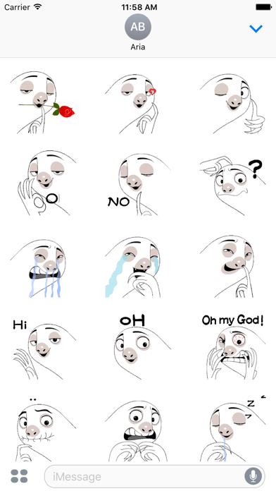 Animated Slow Talking Sloth screenshot 2