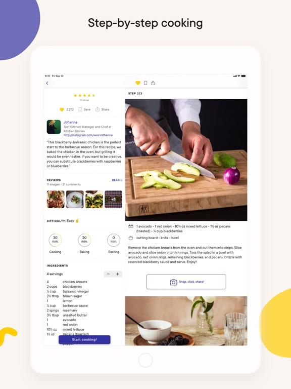 Kitchen Stories: tasty recipes iPad app afbeelding 2
