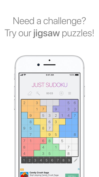 Just Sudoku - Puzzle Game screenshot-1