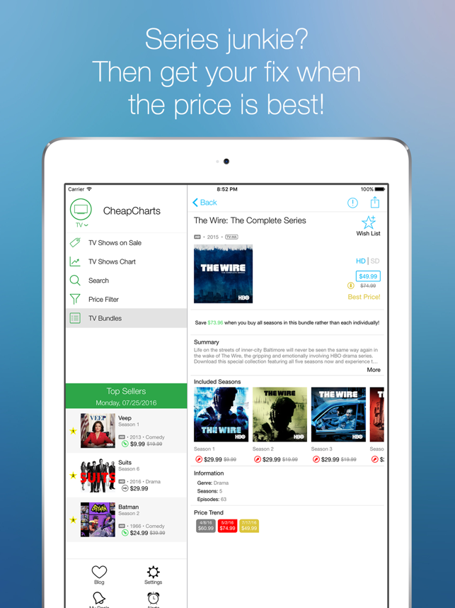 ‎CheapCharts: Your Media Deals Screenshot
