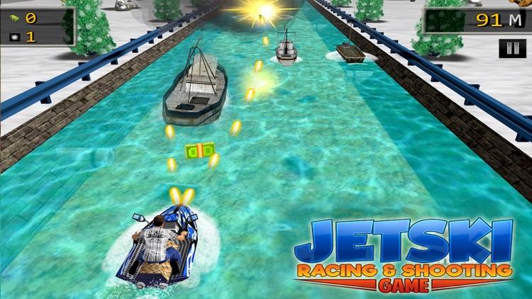 JET SKI RACING SHOOTING GAMES screenshot-0