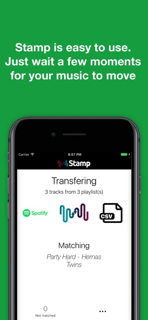 STAMP Transfer Music Playlists on the App Store