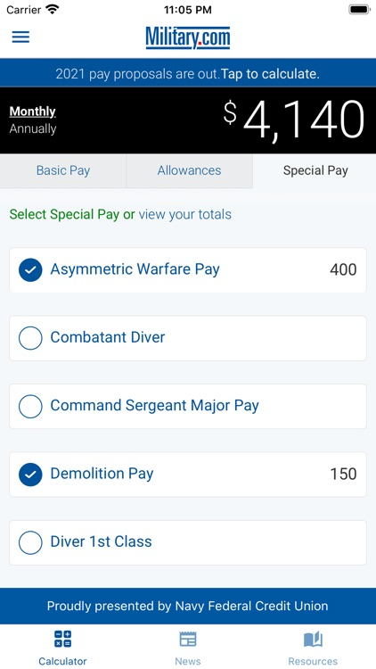 Military Pay by Military.com