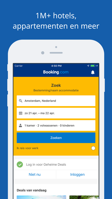 Screenshot for Booking.com Reisdeals in Netherlands App Store