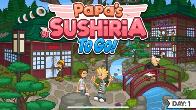 Papa's Sushiria To Go! screenshot 1