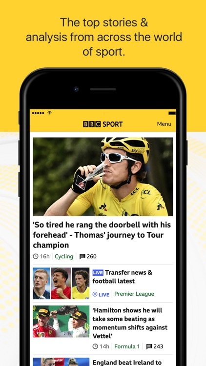 BBC Sport - News & Live Scores screenshot-0