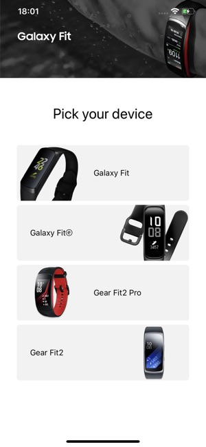 Samsung Galaxy Fit (Gear Fit) Screenshot
