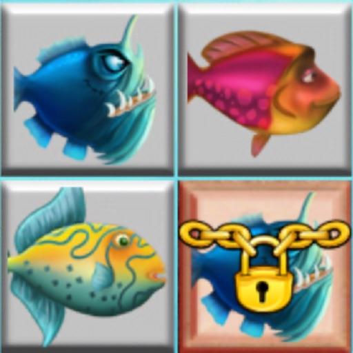 три в ряд рыба игра