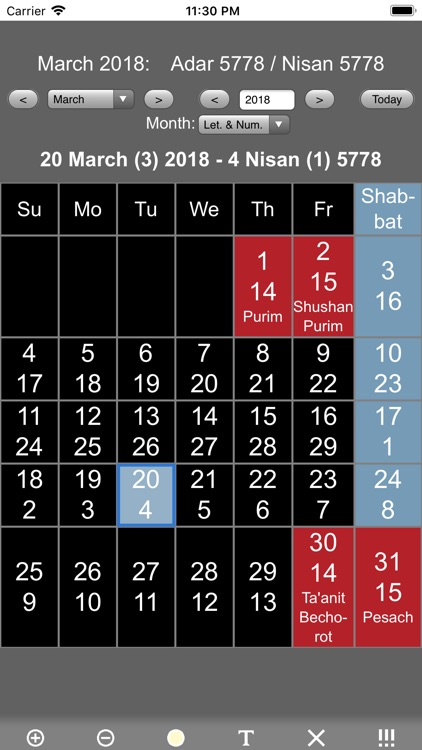 Jewish Calendar and Holidays L screenshot-3