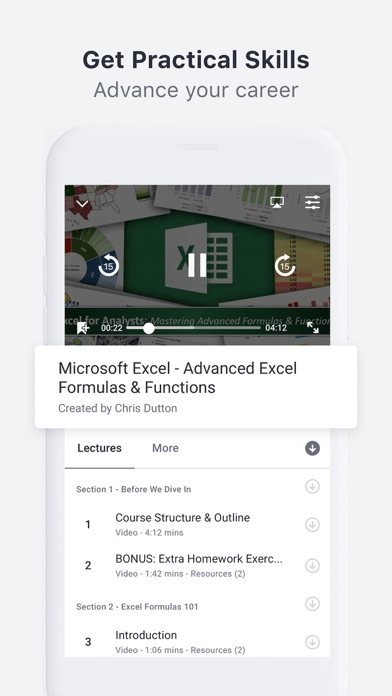 Screenshot for Udemy Online Video Courses in United States App Store