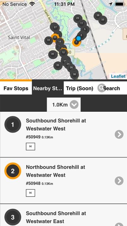 Winnipeg Transit RT - Bus Live screenshot-4