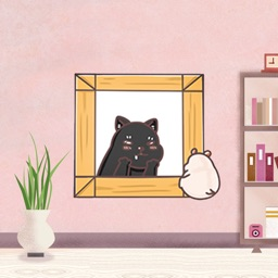 Fat Hamster And  Black Cat