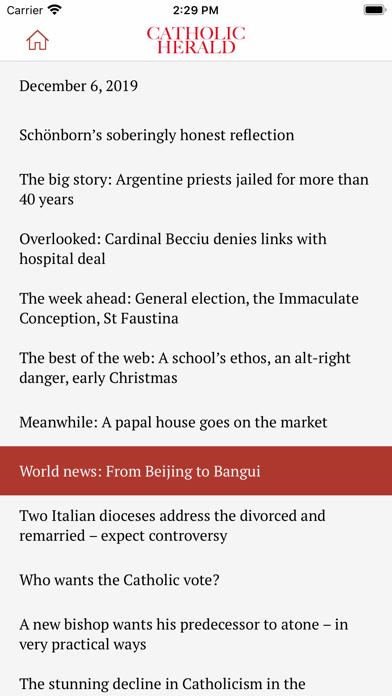 Catholic Herald Magazine screenshot three