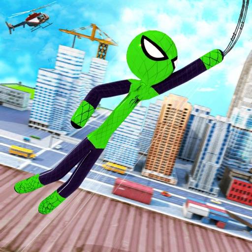 Spider Stickman Rope Hero