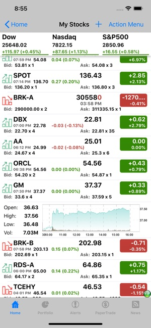 Stocks Tracker:Real-time stock on the App Store