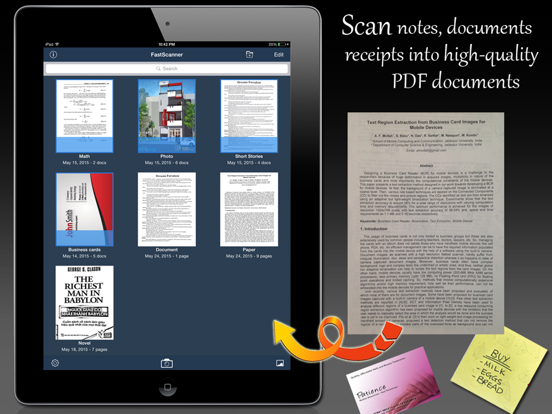 Fast Scanner - PDF scanner to scan document, receipt, print, email and upload to cloud storage screenshot