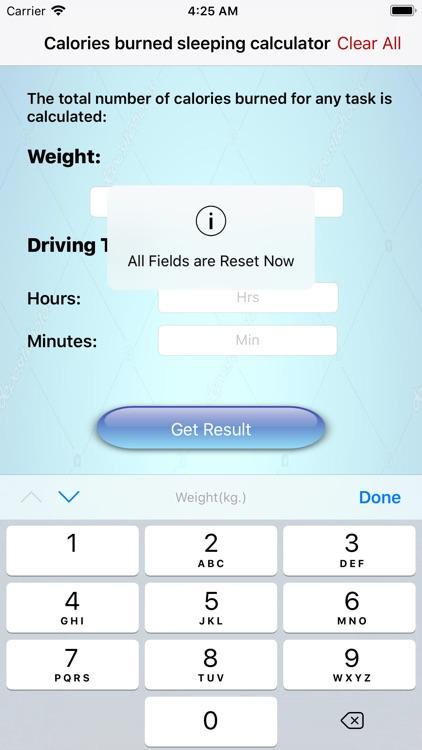 calories burned in driving car screenshot-4
