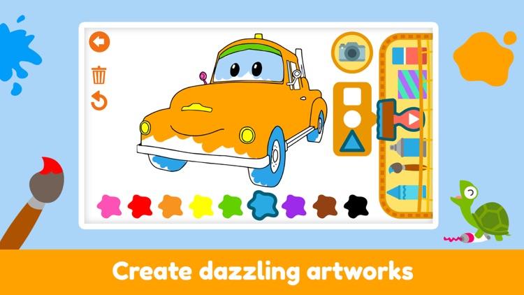 Car City - Kids Coloring Book screenshot-4