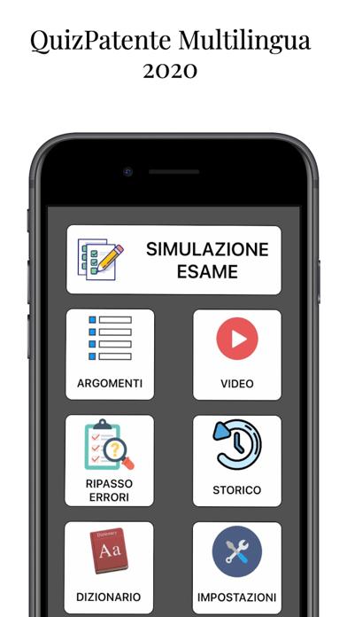 Screenshot of QuizPatente Multilingua1