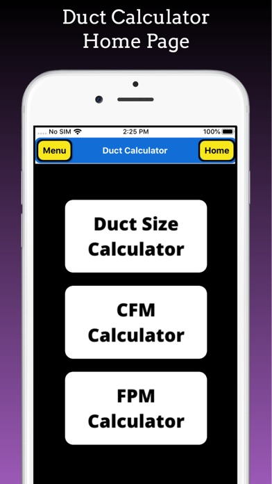 Duct Calculator Pro screenshot 1