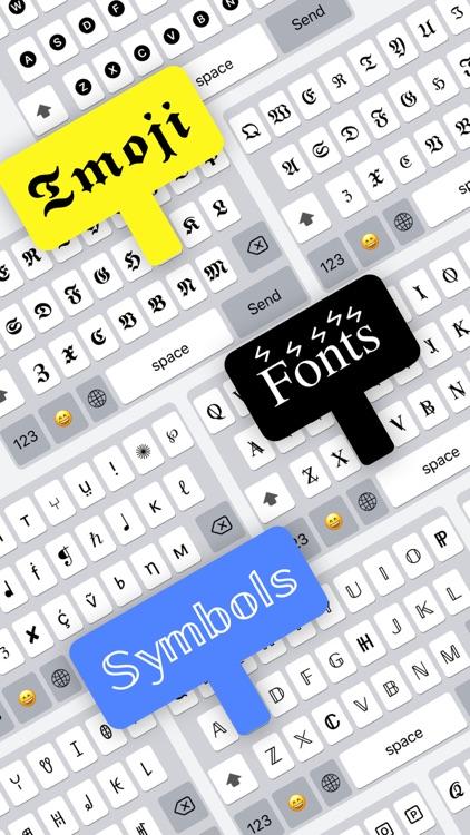 Fonts-font and symbol keyboard screenshot-0