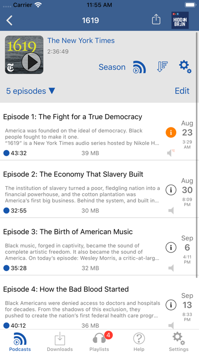 Icatcher Podcast Player review screenshots