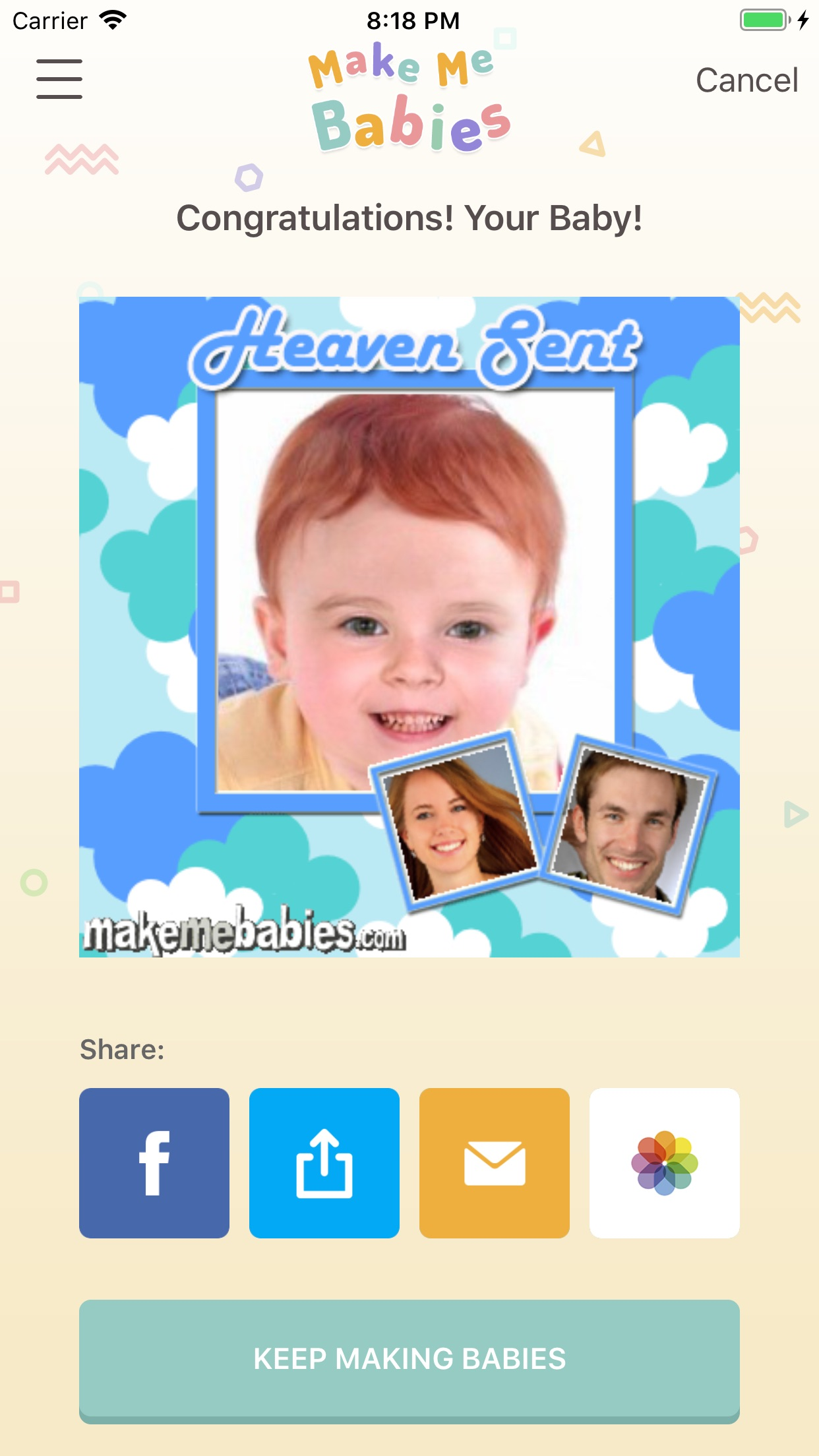 MakeMeBabies Screenshot