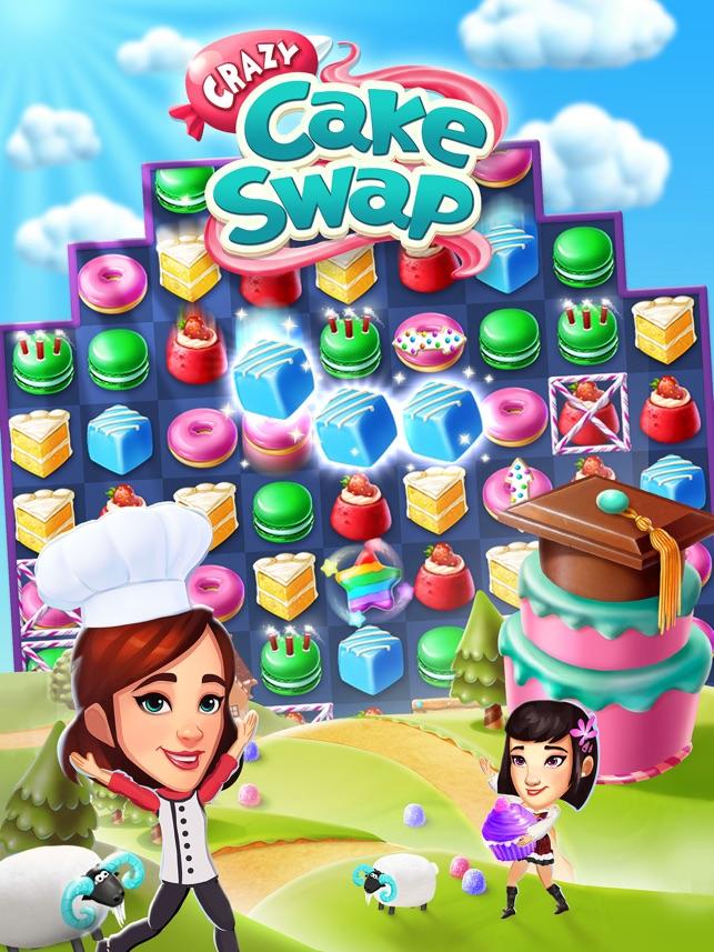 crazy cake swap game