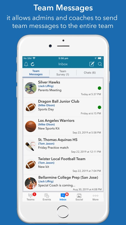 InstaTeam sports team manager screenshot-3