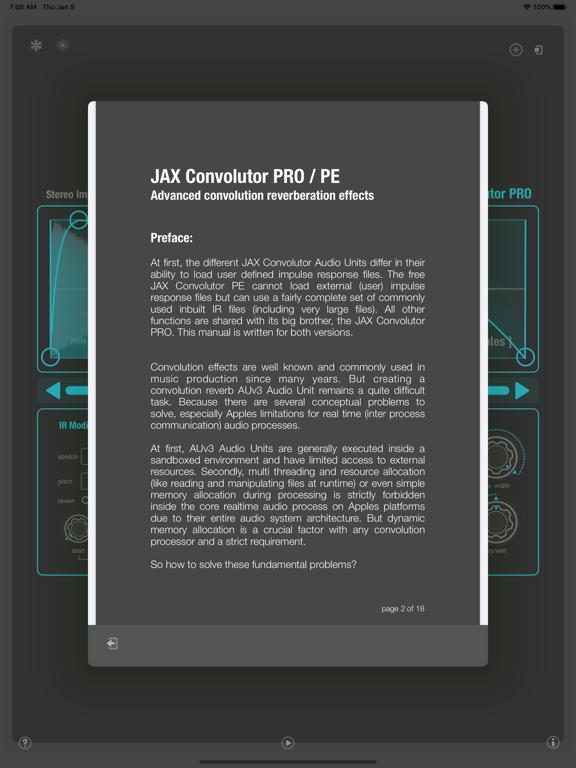 JAX Convolutor PRO (AU) screenshot 10