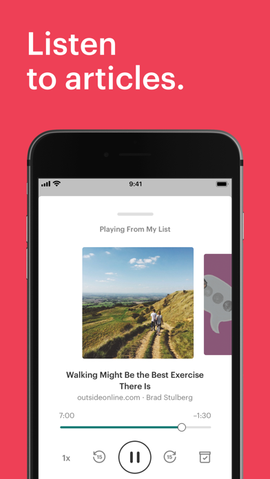 Pocket: Save. Read. Grow. Screenshot on iOS