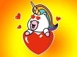 The cutest unicorn is here and ready to make your messages awesome