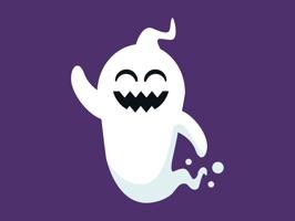 Spooky Halloween Ghost Sticker