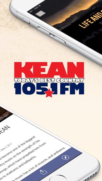 105.1 KEAN Radio screenshot two