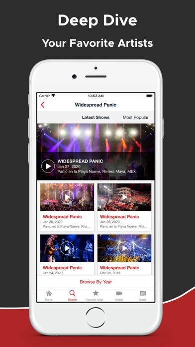 nugs.net Screenshot