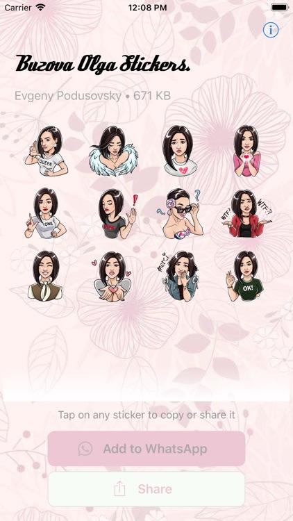 Buzova Olga Stickers