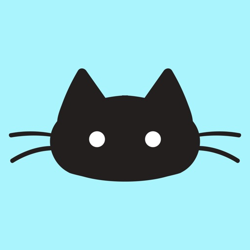 Black Kitty Cat Stickers