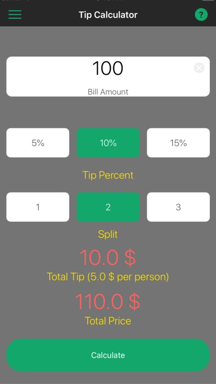 Calculator for Tips