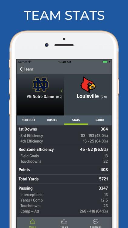 Notre Dame Football screenshot-4