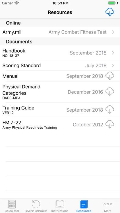 ACFT Calculator and Resources screenshot-4